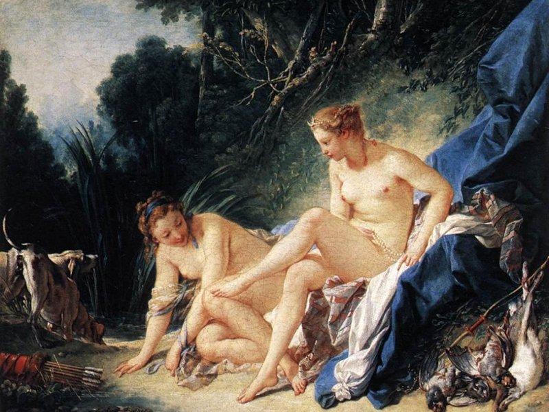 Diana riposa dopo il suo bagno (800x600 - 120 KB)